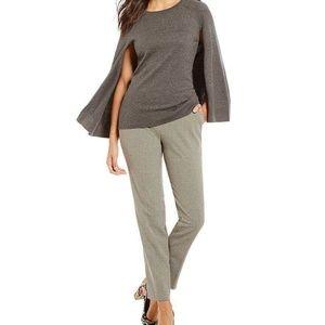 Trina Turk Fern Dell Gray Cape Sweater